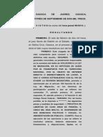 SENTENCIA DECLINACIÓN COMPETENCIA A COMUNIDAD INDÍGENA OAXACA, MÉXICO