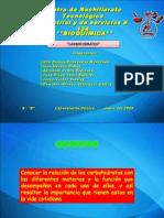 carbohidratos en materias