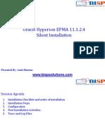 Oracle EPMA 11.1.2.4 Slient Installation