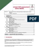 MARS2000 Memo CSR-H Assessment