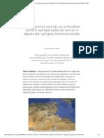 Movimentos Sociais Se Articulam Contra Apropriação de Terras e Águas Por Grupos Internacionais _ Repórter Brasil