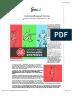 35 Cardio-Based Bodyweight Exerci 35 Cardio-Based Bodyweight Exercises