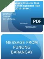 Barangay Risk Reduction Management