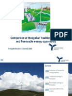 Comparison of Mongolian Traditional Energy and Renewable Energy Opportunity ByNandinbayar (2)