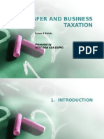 Transfer and Business Taxation-Introduction