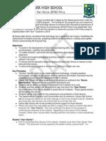 kotara high school byod policy draft 3 6 15
