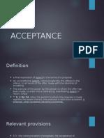 Lecture 5 - Acceptance, Communication