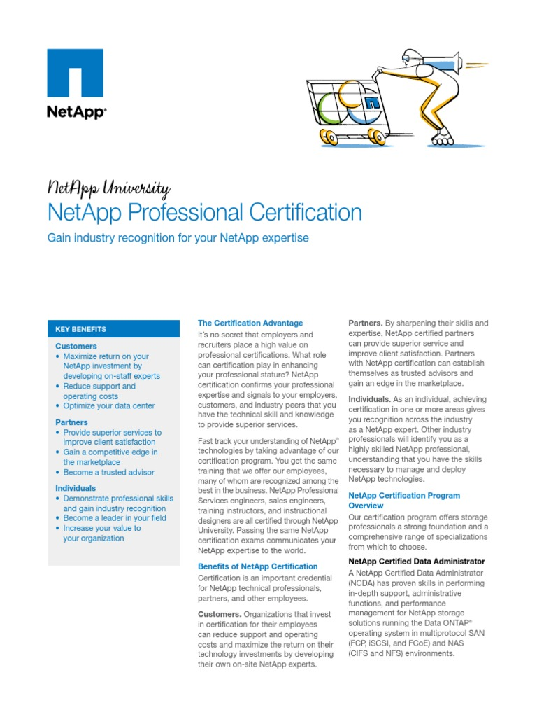 Netapp Professional Certification Professional Certification