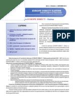 Newsletter Europedirect-Slatina Anul 1 Nr 1
