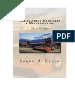 Basic Concept Farm Machinery Mechanization