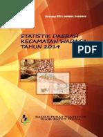 Statistik Daerah Kecamatan Wadaga 2014