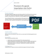 provisions for goods importation into forlini