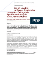 Protection of Load in Electrical Power System by Using Arc Extinguish System and relay in MATLAB/SIMULINK