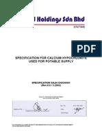 Specification for Calcium Hypochlorite1