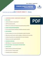 Newsletter Europedirect-Slatina Anul 3 Nr 1
