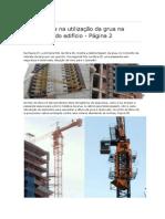 A Segurança Na Utilização Da Grua Na Construção Do Edifício