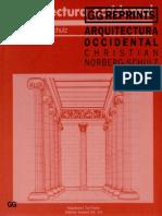 01_Arquitectura Occidental - Norberg Schulz