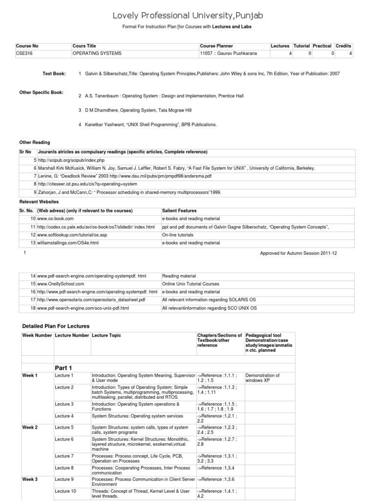 cse 316.pdf | scheduling (computing) | thread (computing)