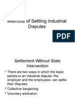 Methods of Settling Industrial Disputes