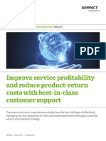 Aftermarket Services Improve Service Profitability and Reduce Product Return Costs.