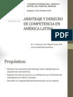 Ponencia. Arbitraje y Derecho de Competencia en AL