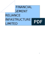 Reliance Infrastructure Finacial Analysis
