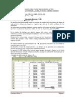 Apunte Van Tir en Excel