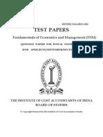 ICMAI - Economics & Management Paper