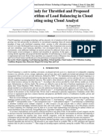 Analytical Study for Throttled and Proposed Throttled Algorithm of Load Balancing in Cloud Computing using Cloud Analyst