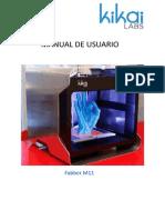 Manual Impresora 3D Kikai M11