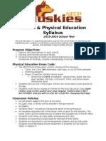 physical education department syllabus