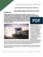 Neuer Antriebsreifen Nokian Hakka Truck Drive für Lkws und Busse