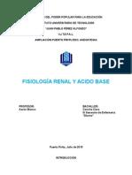Fsiologia Renal y Acido Base