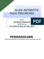 De Eskalasi Antibiotik Pada Penumonia