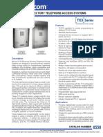 Mircom TX3-1000-8U-A Data Sheet