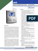 Mircom TX3-TOUCH-S15-A Data Sheet