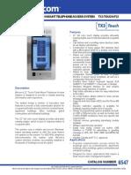 Mircom TX3-TOUCH-F22 Data Sheet