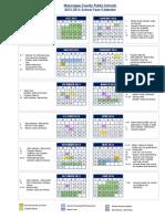 2015-2016 school year calendar final