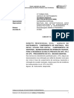 Acórdão TJDFT - Citado Edital - Cumprimento de Sentença