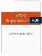 Planejamento de Experimentos e Seus Objetivos - UFRGS