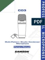 Samson C03 Ownmanual