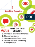 10 Aptis Speaking Overview