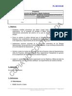 PL-GE-018 Programa Prevencion de Riesgos y Medio Ambiente