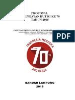 Proposal Peringatan Hut Ri Ke 70 Tahun (Final)