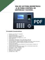 Guia de de Manejo Lectora Biometrica In01-A Id