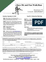 Reamstown Days 5K Registration