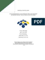 Proposal Tugas Akhir - Studi Eksperimental Karakteristik Shell And Tube Heat Exchanger dengan Variasi Rezim Aliran Sisi Shell