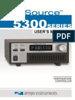 Arroyo 5300 Tec Source Users Manual