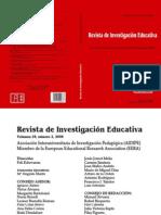 Revista de Investigación Educativa