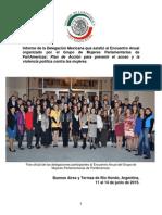 06-08-15 Informe de la Delegación Mexicana que asistió